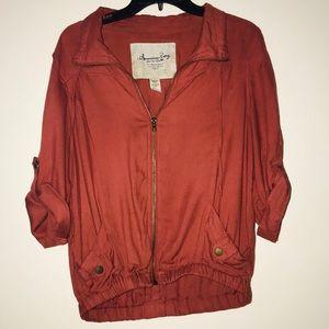Preloved dark Burnt orange American Rag Jacket
